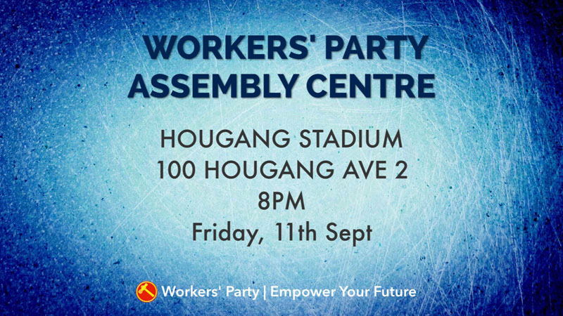 Assembly Centre @ Hougang Stadium, Fri, 11th Sep, 8pm